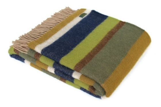 Field Stripe Wool Blanket / Throw